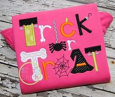 Trick or Treat 2 Applique - 3 Sizes! | What's New | Machine Embroidery Designs | SWAKembroidery.com The Itch 2 Stitch