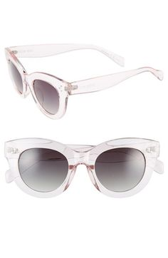 Steve Madden 49mm Translucent Cat Eye Sunglasses | Nordstrom
