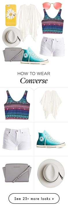 """Summer outfit"" by happytunes5 on Polyvore featuring Barbour International, Converse, MICHAEL Michael Kors, Ray-Ban, Kate Spade and Calypso Private Label"