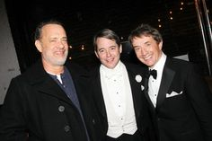 Pin for Later: Can't-Miss Celebrity Pics!  Tom Hanks showed his support for Matthew Broderick and Martin Short at their performance of It's Only a Play in NYC on Wednesday.
