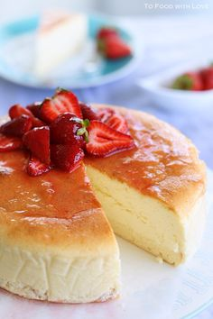 To Food with Love: Creamy Japanese Cheesecake with Sponge base @To Food with Love