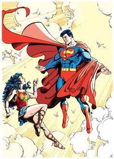 Superman & Wonder Woman - George Perez