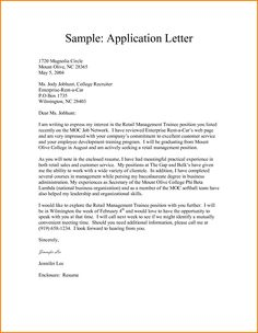 Application Sample For Leave Awesome Written Application Letters  Application Letter  Pinterest