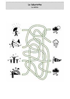 La météo - Labyrinthe Comme, Math, Occupation, Lolo, Collage, Decor, Google, Labyrinths, Children