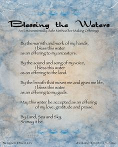 Blessing the Waters