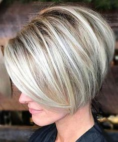 Short-Stacked-Bob Chic Short Bob Haircuts for 2018 Chic Short Bob Haircuts for Bob hairstyles are increasingly being loved by many women all over the world. Stacked Bob Hairstyles, Bob Hairstyles For Fine Hair, Hairstyles Haircuts, Wedding Hairstyles, Blonde Bob Hairstyles, Woman Hairstyles, Classic Hairstyles, Medium Hairstyles, Braid Hairstyles