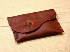 Leather Belt Bag dark red sewn by hand by NaturalDesignCrafts