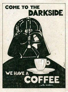 Temos café e biscoitos!