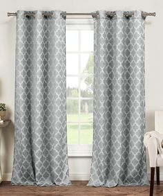 Take a look at this Gray Longoria Curtain Panel - Set of Two today!