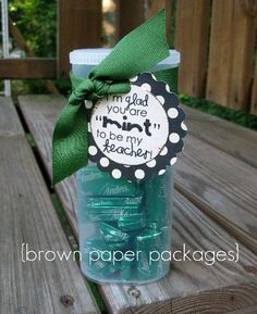 I made this for the kids teachers for back to school, i used a small glass jar.