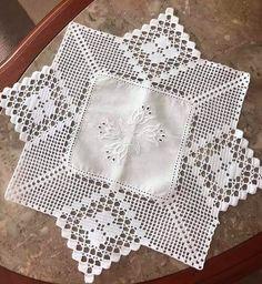 Crochet Borders, Crochet Squares, Crochet Motif, Crochet Designs, Crochet Doilies, Crochet Patterns, Crochet Baby Blanket Free Pattern, Crochet Bedspread, Crochet Tablecloth