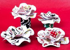 Playing Card Flower Casino Hair Clip Fascinator via Etsy