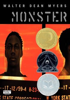 This is the book monster by Walter Dean Myers and it is about this 16 year old boy named steve that was in the robery/murder of a drugstore.