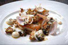 Snapper, clams, cauliflower and lemon, sauce meunière  @ Aberdeen Street Social