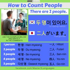 How to count people in Korean & Japanese! #korean #japanese #language #learn #learning #graphic #design #graphicdesign #infographic #kfans #jfans #master3languages #polyglot #bilingual