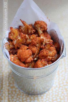 Palomitas de coliflor con pimentón ahumado/Smoked paprika popcorn cauliflower