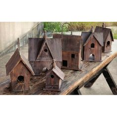Enchant your back patio or garden with these Rustic Birdhouses!