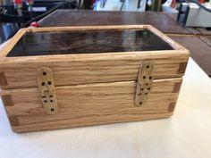 Small oak / walnut box