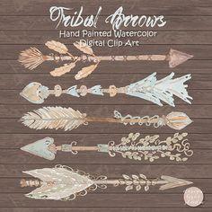 Watercolor Vector Arrows Vintage Tribal by designloverstudio
