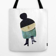 Little girl Tote Bag by yael frankel - $22.00
