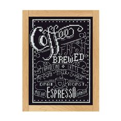 Loops & Threads® Counted Cross Stitch Kit, Coffee