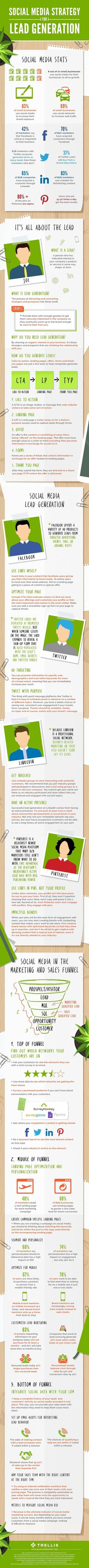 Social Media Strategy for Lead Generation [Infographic] AND Take this Free Full Lenght Video Training on HOW to Start an Online Business