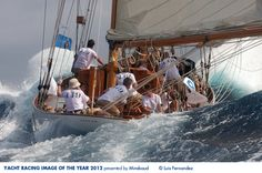 Photo by Luis Fernandez - The photo was taken during the 2012 IX King's Cup for Classic Yachts Panerai Trophy in Mahon, Spain.... - Yacht Racing Image of the Year 2012