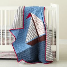 Sail On Crib Bedding  | Crate and Barrel
