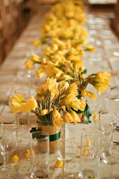 The Confetti Blog: The Real Flower Petal Confetti Co present some fabulous Spring Wedding ideas in a Yellow and Green palette