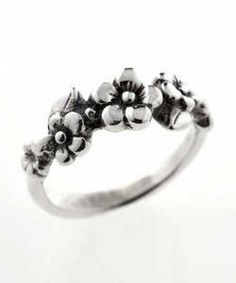Five Flower Forget-me-not Ring (Sterling Silver)