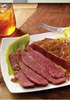 Corned Beef Brisket with Cabbage – Corned beef brisket and tender cabbage are together again in this succulent classic. No need to wait to serve it as the perfect party-pleasing recipe.