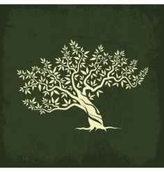 olive tree silhouette icon isolate
