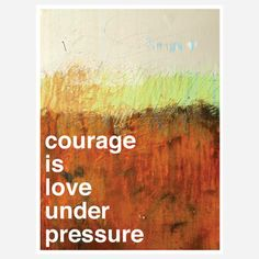 Courage Print from Kent Youngstrom is a multi-talented designer and artist whose work has caught the eye of companies like CB2…and Fab. This series features a group of Youngstrom's digital prints and original paintings, including a selection of bright, new, and inspiring work created with writer Alexandra Franzen.