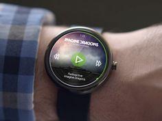 Moto 360 Spotify App Concept