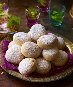These little Middle Eastern date-filled biscuits are traditional for Eid - make sure you have a house full of them for visitors. Egg Free Recipes, Sweet Recipes, Cookie Recipes, Middle Eastern Recipes, Biscuit Recipe, Yummy Food, Delicious Recipes, Tray Bakes, Smoothie Recipes