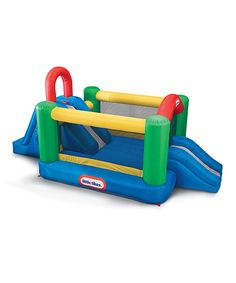 Take a look at this Little Tikes Jump & Double Slide Bounce House Set today!