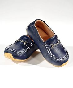 Navy Blue Moccasins from SKEANIE on #zulily!
