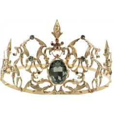 'Once Upon a Time' Evil Queen Crown Becomes Hot Jewelry Item ❤ liked on Polyvore featuring crowns, tiaras, accessories, jewelry, hair accessories, circle, circular and round