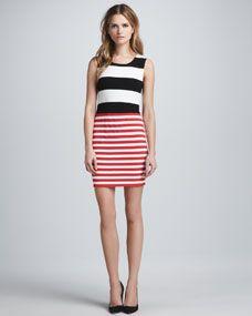 Delta Time Striped Tank Dress - Neiman Marcus