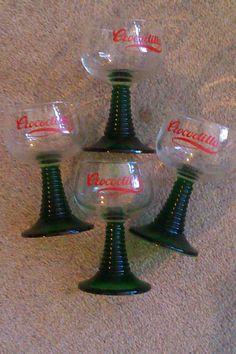 Four Retro Crocodillo Glasses £16