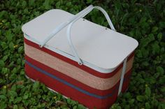 Vintage 1950's Picnic Basket Vintage Lunch by PickersWarehouse, $49.00