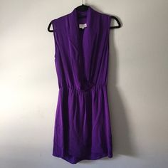 Parker NY purple draped silk dress sz S Absolutely beautiful purple silk dress by Parker NY. Perfect condition- like new. Deep purple color, 100% silk. Size small (fits about a 4-6). Hits above the knee. Retails for over $200! Parker Dresses Mini