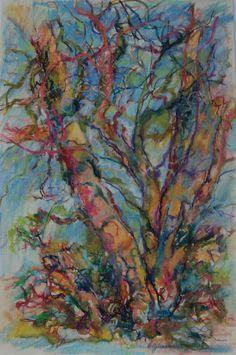 "Tree Drawing, pastel on paper, 11""x17"", susanhjohnstonart.com"