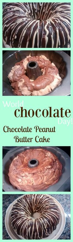 Chocolate Peanut Butter Cake Recipe- an AWESOME cake for entertaining! Find the…