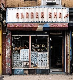 """Barber Shop"" Old Store Front"