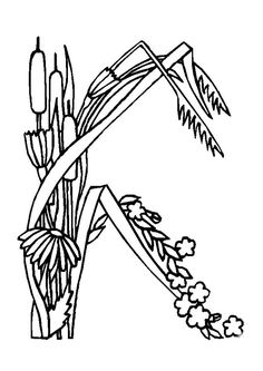 Tu peux compléter ta collection de fleurs en imprimant et en coloriant cette lettre de l'alphabet
