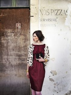 """""""A pessimist sees the difficulty in every opportunity; an optimist sees the opportunity in every difficulty"""". Winston Churchill. www.colettewerden.com #colettewerden  #style #fashion #stylist #woman #bold #maroondress #effortless"""