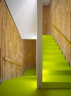 ONLINE EXCLUSIVE. Stairs at a convention center in Spain. Photography by Roland Halbe.