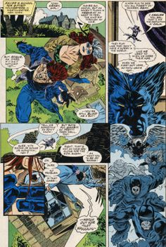A panel from X-Men issue # 34. 1994.