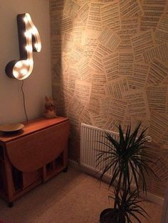 Wallpaper with old sheet music? Uh.. YES!!!